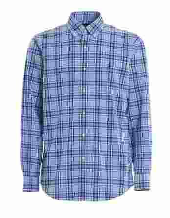 ανδρικό πουκάμισο καρό ralph μπλε