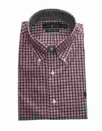 ανδρικό πουκάμισο ralph καρώ κόκκινο μπλε