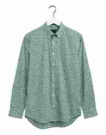 ανδρικό πουκάμισο καρό gant πράσινο