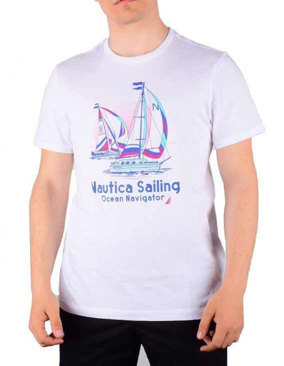 ανδρικό t-shirt nautica άσπρο