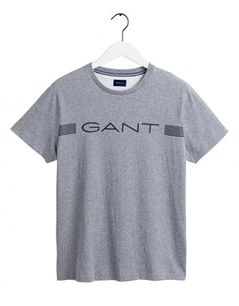 ανδρικό t-shirt gant γκρι