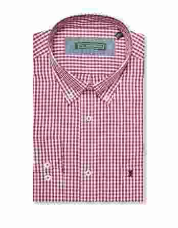 ανδρικό πουκάμισο bostonian καρό κόκκινο