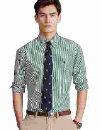 ανδρικό πουκάμισο ralph lauren ρίγα πράσινο